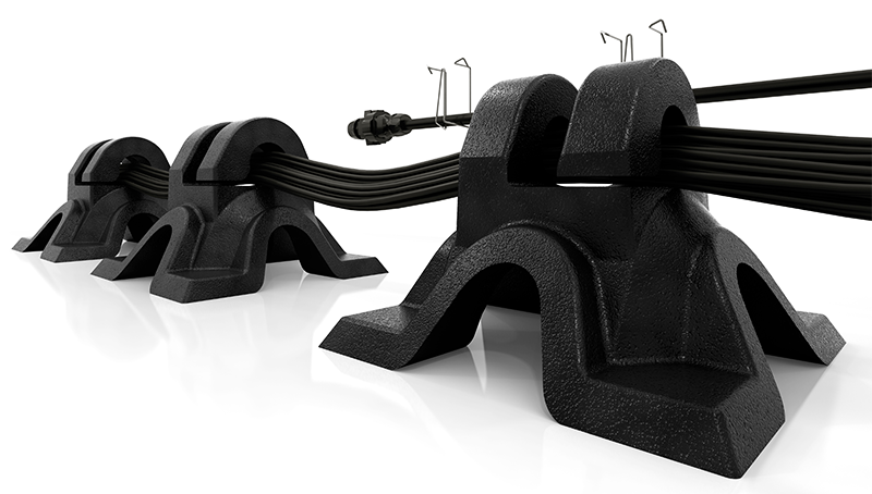 Close Up View of SunPower Helix Cable Management Clips