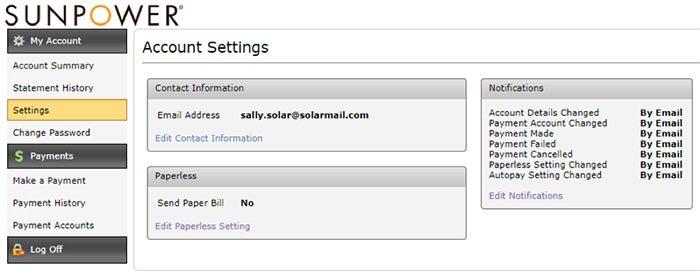 change account notification settings