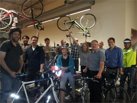 SunPower Richmond employees bike to work