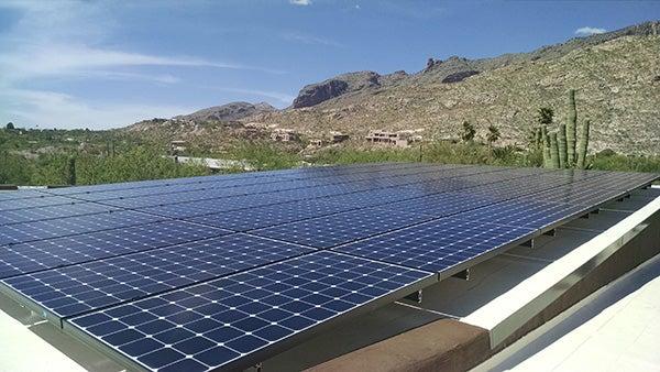 Close up shot of SunPower Panels