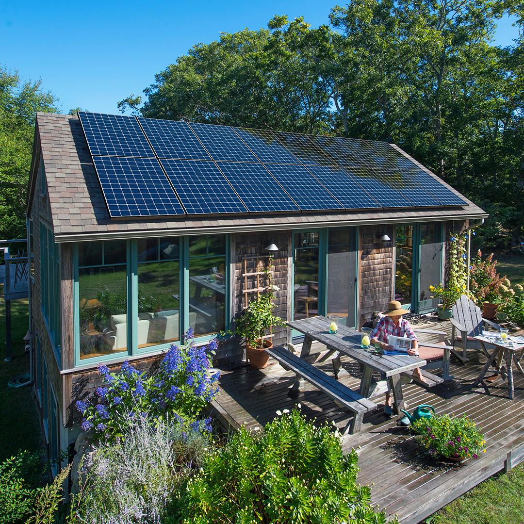 A solar home on Martha's Vineyard.