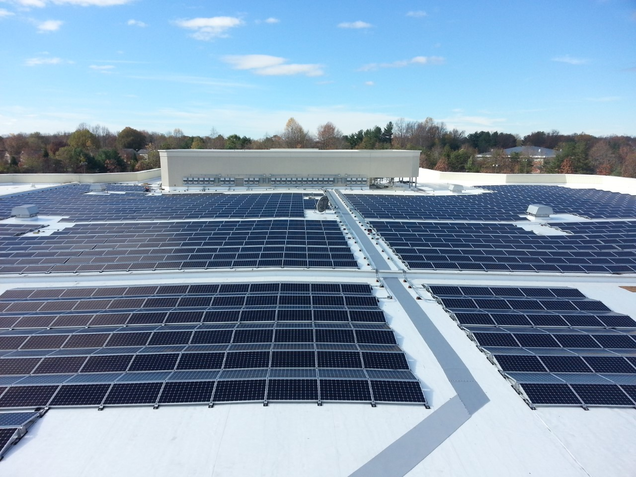 A SunPower rooftop solar system at the Macy's, Inc. store in Bowie, M.D.