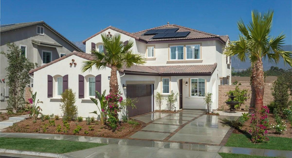 SunPower solar on a new home