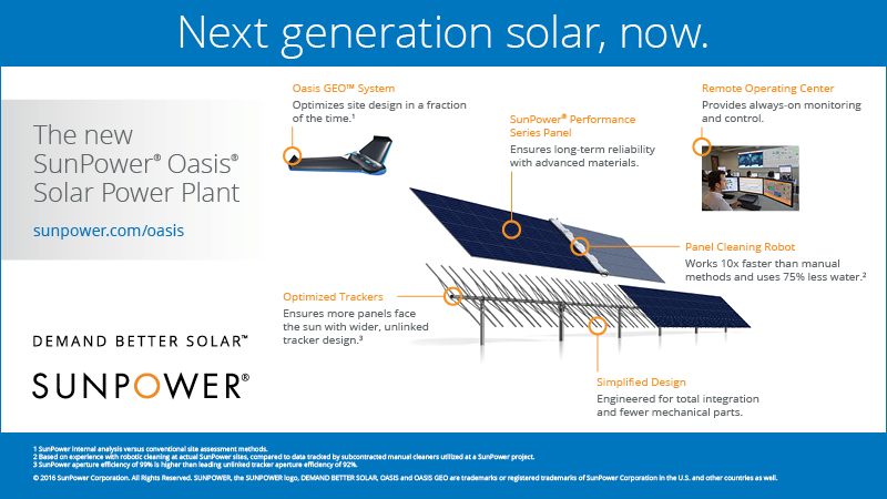 SunPower Oasis power plant at-a-glance.