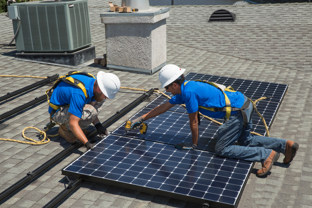 The booming solar industry offers many career operations for military veterans.