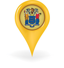 New Jersey pin illustration