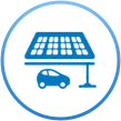 solar panel carport icon