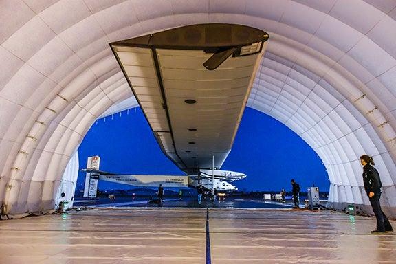 Solar Plane in Japan Hanger