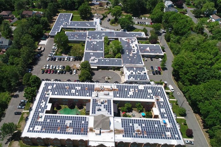 Allendale rooftop solar panels