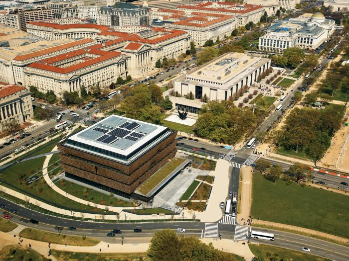 The Smithsonian Institution's New National Museum of African American History and Culture uses SunPower solar to be green.