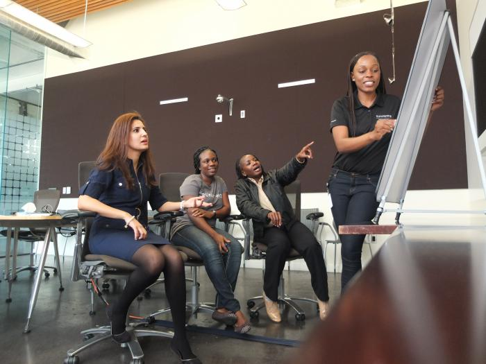 SunPower mentored four engineers from Africa this fall through a program called TechWomen.