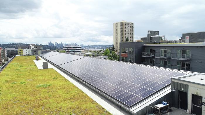 SunPower Solar Array on Audi Car Dealership in Seattle, Washington