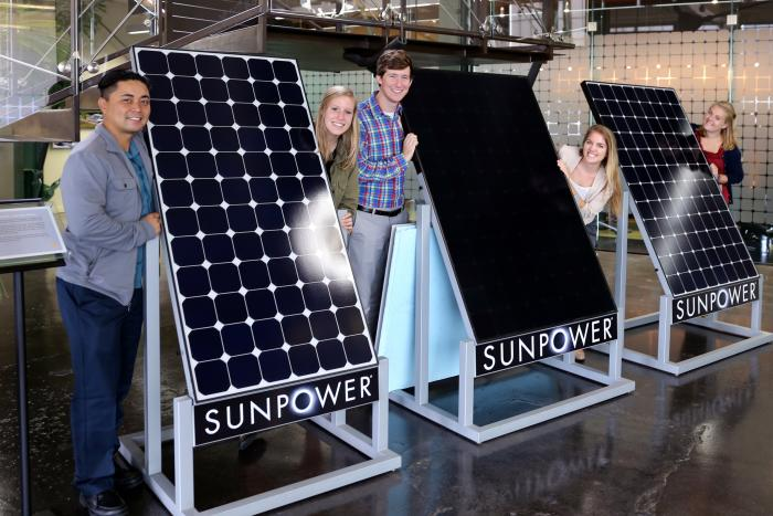 Bay Area Climate Corps Fellows learning about sustainable energy careers at SunPower.