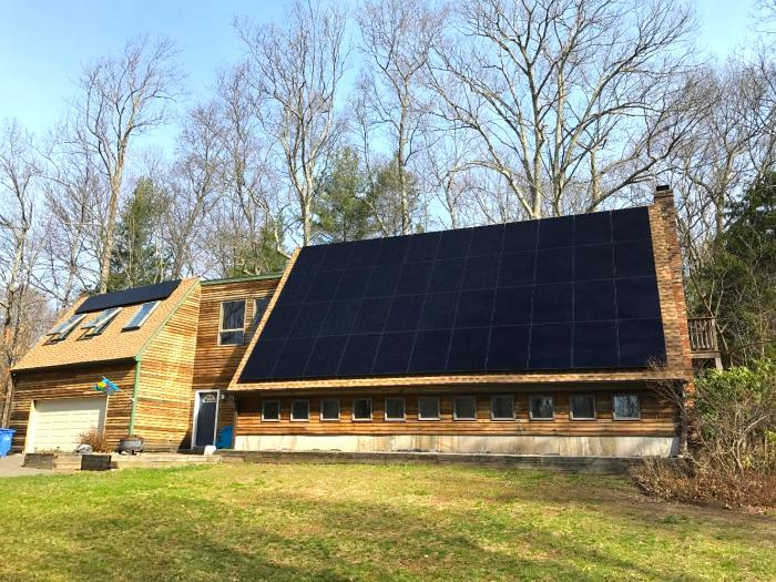 A unique home in East Hampton featuring SunPower solar technology.