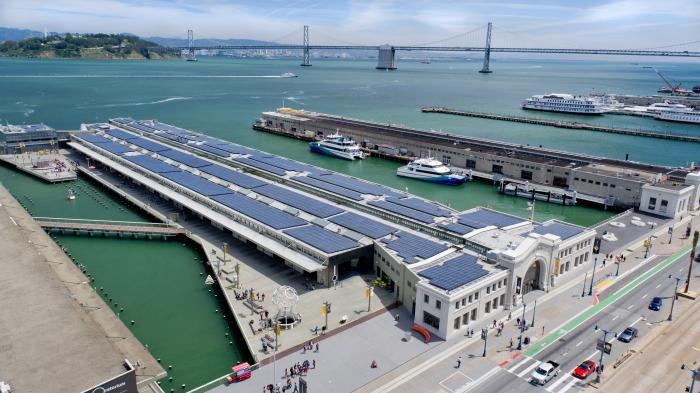 The Exploratorium, a green museum in San Francisco, California, made its new home more environmentally sustainable with SunPower solar.