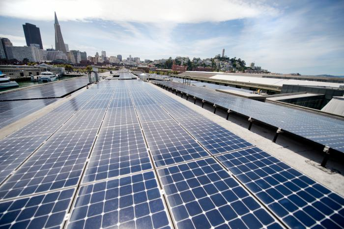 SunPower's solar system on the world famous Exploratorium museum in San Francisco.