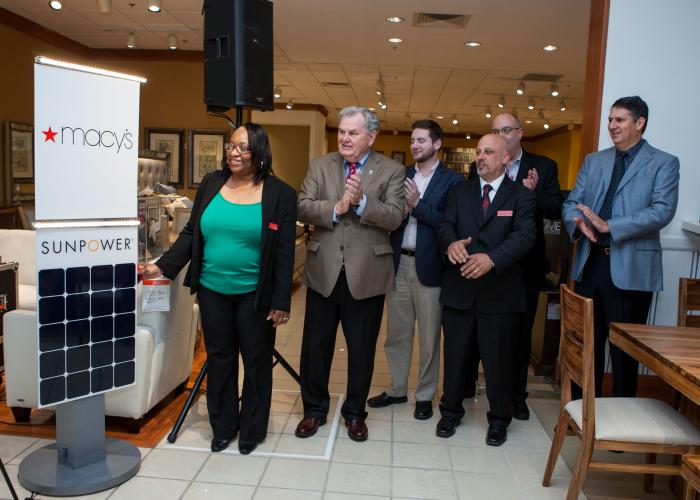 Macy's, Inc. and SunPower celebrate Earth Day by recognizing a 10-year partnership to bring solar to their facilities.