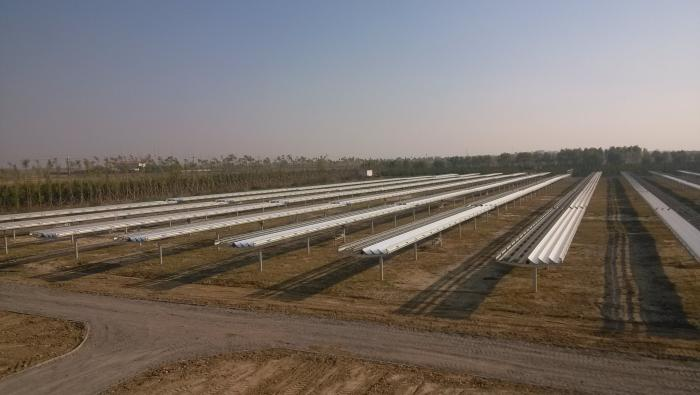 A solar plant in Inner Mongolia, China, constructed with SunPower® solar technology.