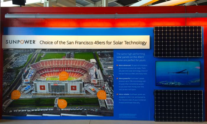 SunPower provided Levi's Stadium, home of the 50th NFL championship game, with solar panels.