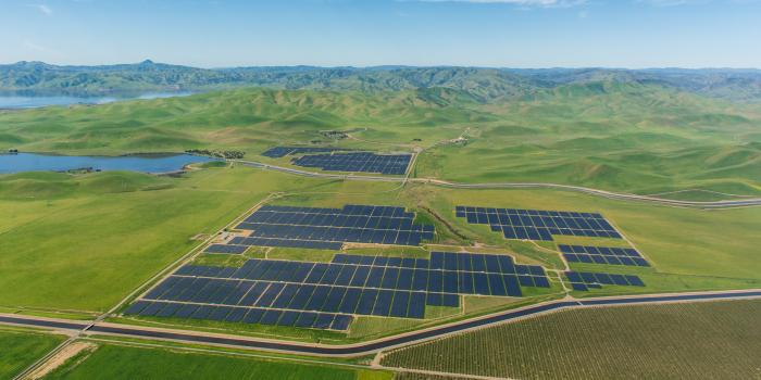 The Quinto solar power plant in Merced, California.