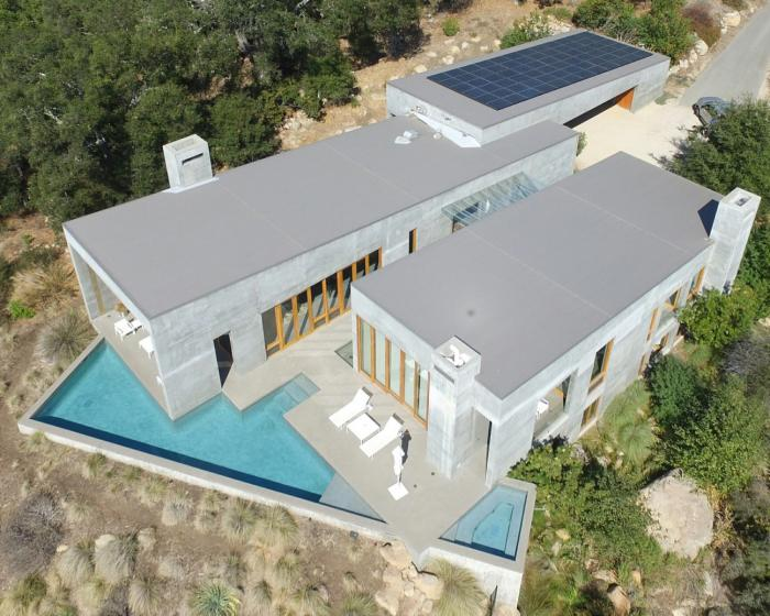 This stylish home near Santa Barbara, Calif.,features SunPower's best residential solar installation of 2016.