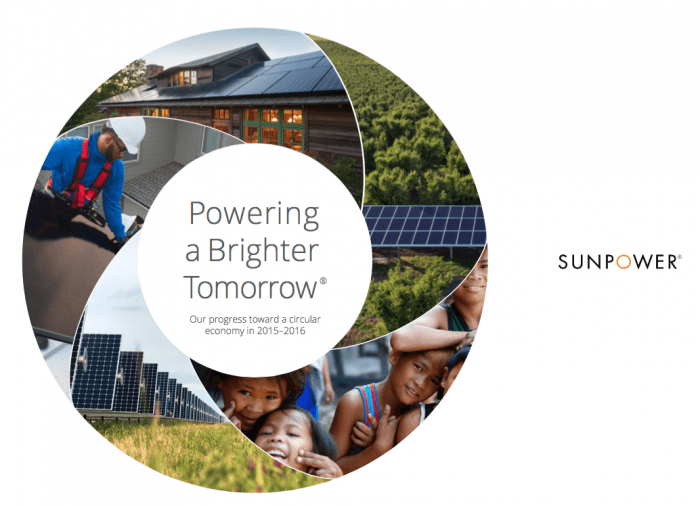 Visit sunpower.com/sustainability to download a copy of our latest report on being a sustainable solar company.