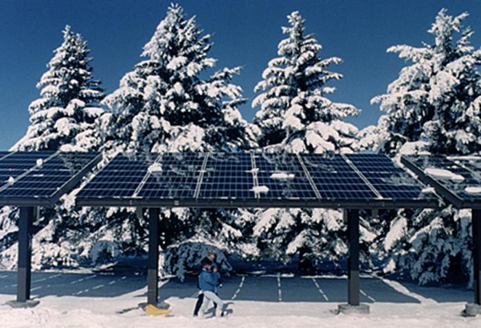 SunPower Commercial Solar Panels in Snow