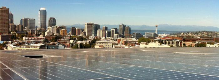 The Bullitt Center in Seattle is a 53,000-square-foot commercial building that makes more energy than it consumes using SunPower solar.