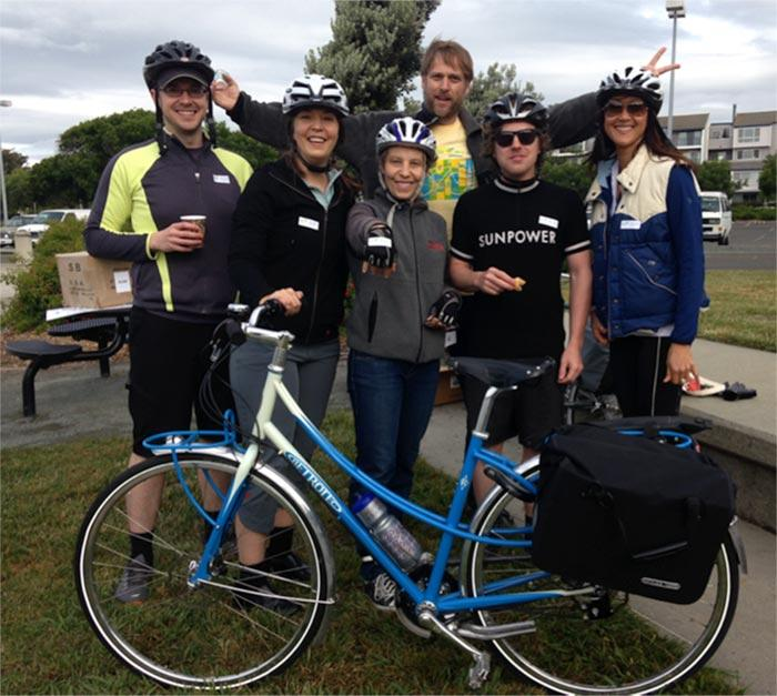 SunPower Employees Bike to Work