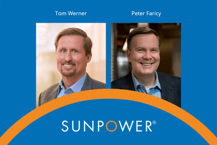 SunPower CEO Tom Werner Hands Reins to Peter Faricy
