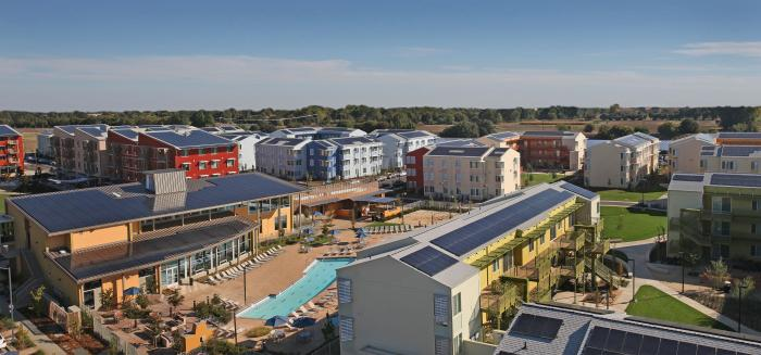 The University of California, Davis,' West Village is a solar-powered community.