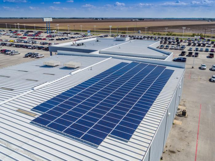 Two Covert Auto dealerships in Central Texas rely on SunPower to generate 50 percent of their annual energy needs.