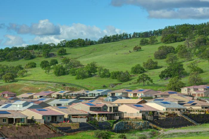 Solar homes in El Dorado Hills, Calif.