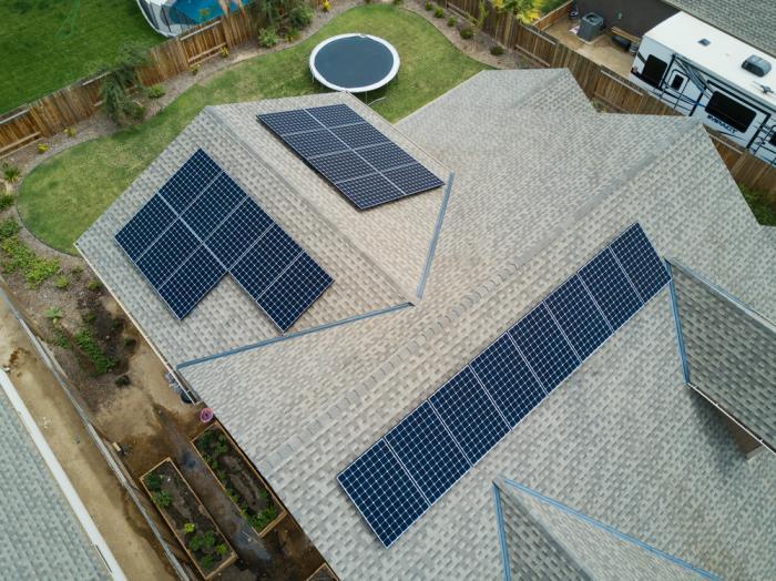 A home with SunPower solar panels.
