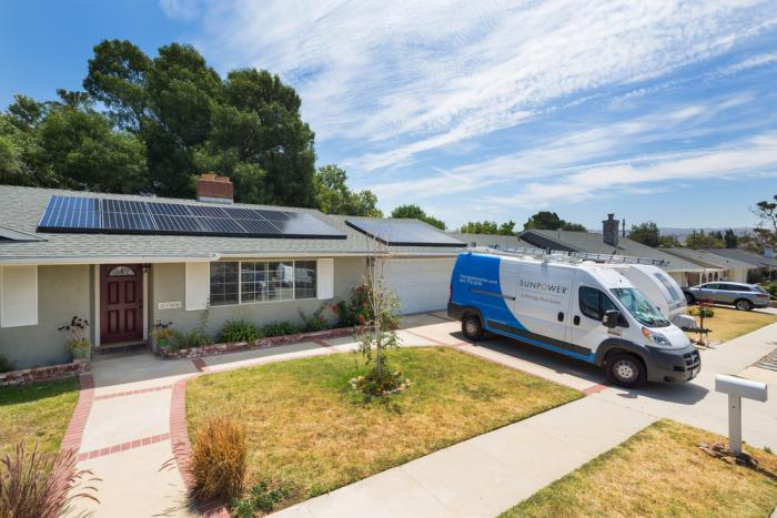 SunPower Solar Array on Residential Home