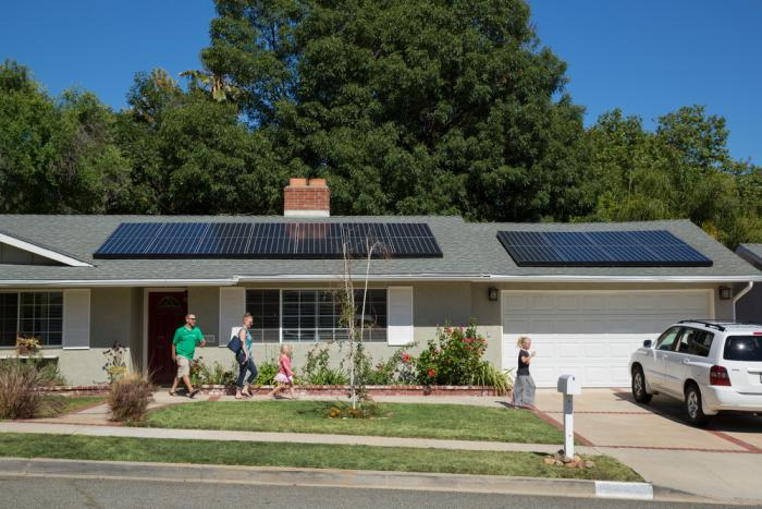 A shining example of clean home solar panels.