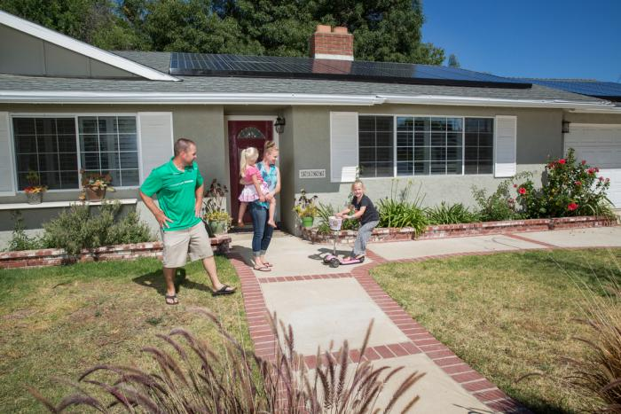 SunPower Solar Installation with Family