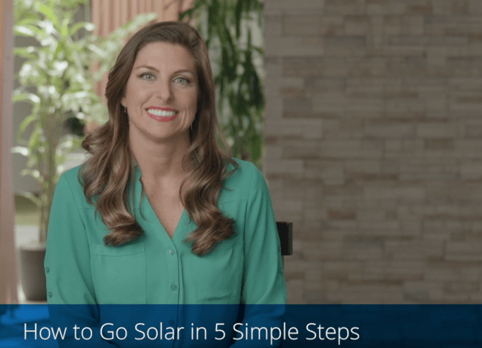 How to get home solar panels on your house in five easy steps.