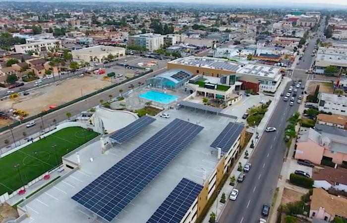 A San Diego County YMCA facility with SunPower solar