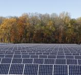 A solar array at Johnson & Johnson, one of numerous top companies with SunPower solar installed.