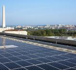 SunPower solar panels on the roof of the U.S. Department of Energy in Washington, D.C.