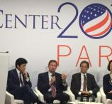 SunPower CEO Tom Werner, third from left, at the historic climate talks in Paris in 2015.