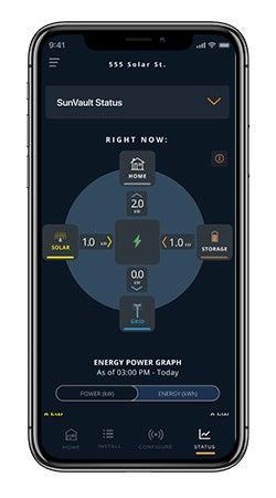 SunPower Pro Connect - Live Power Flow